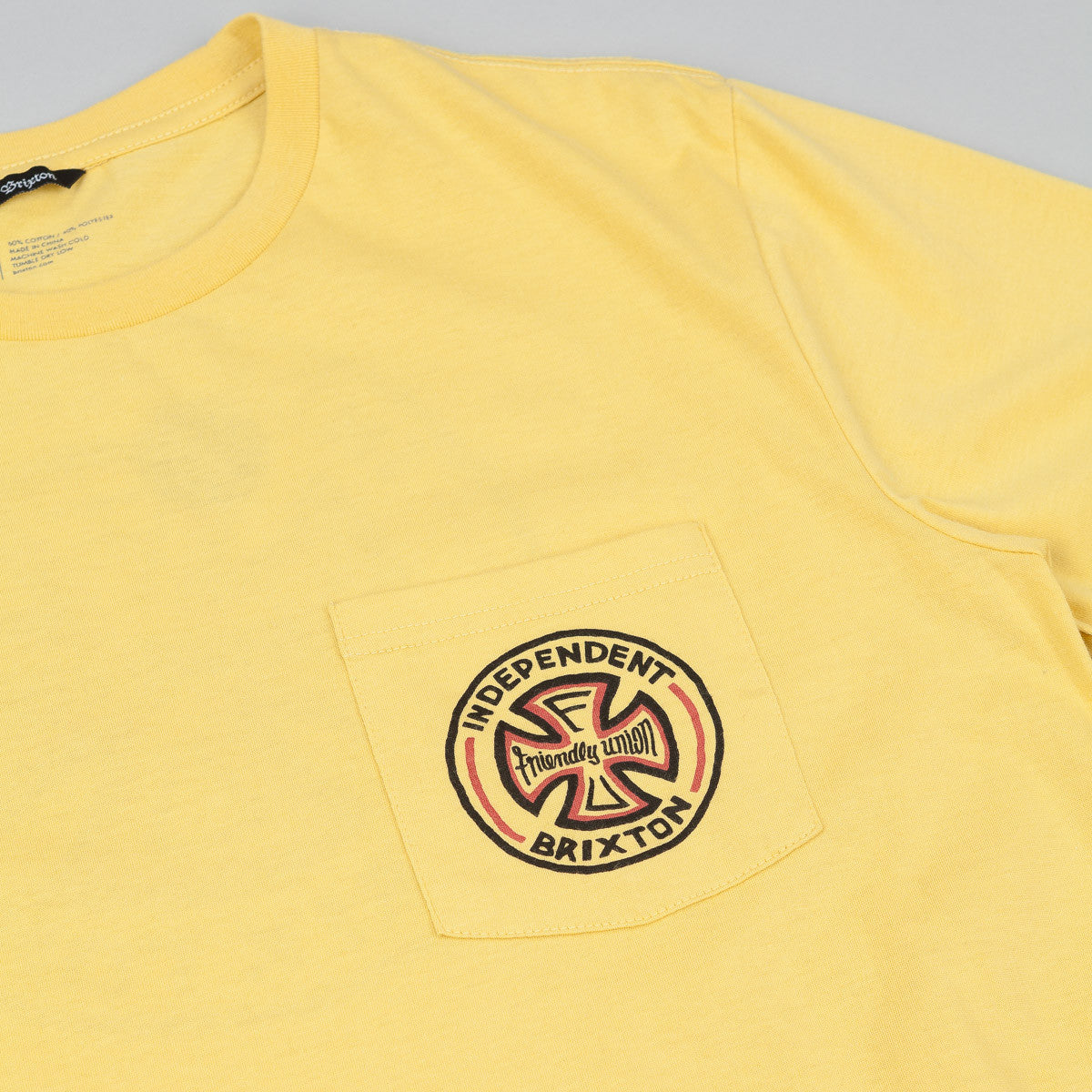 Brixton Fillmore Premium T-Shirt - Washed Yellow