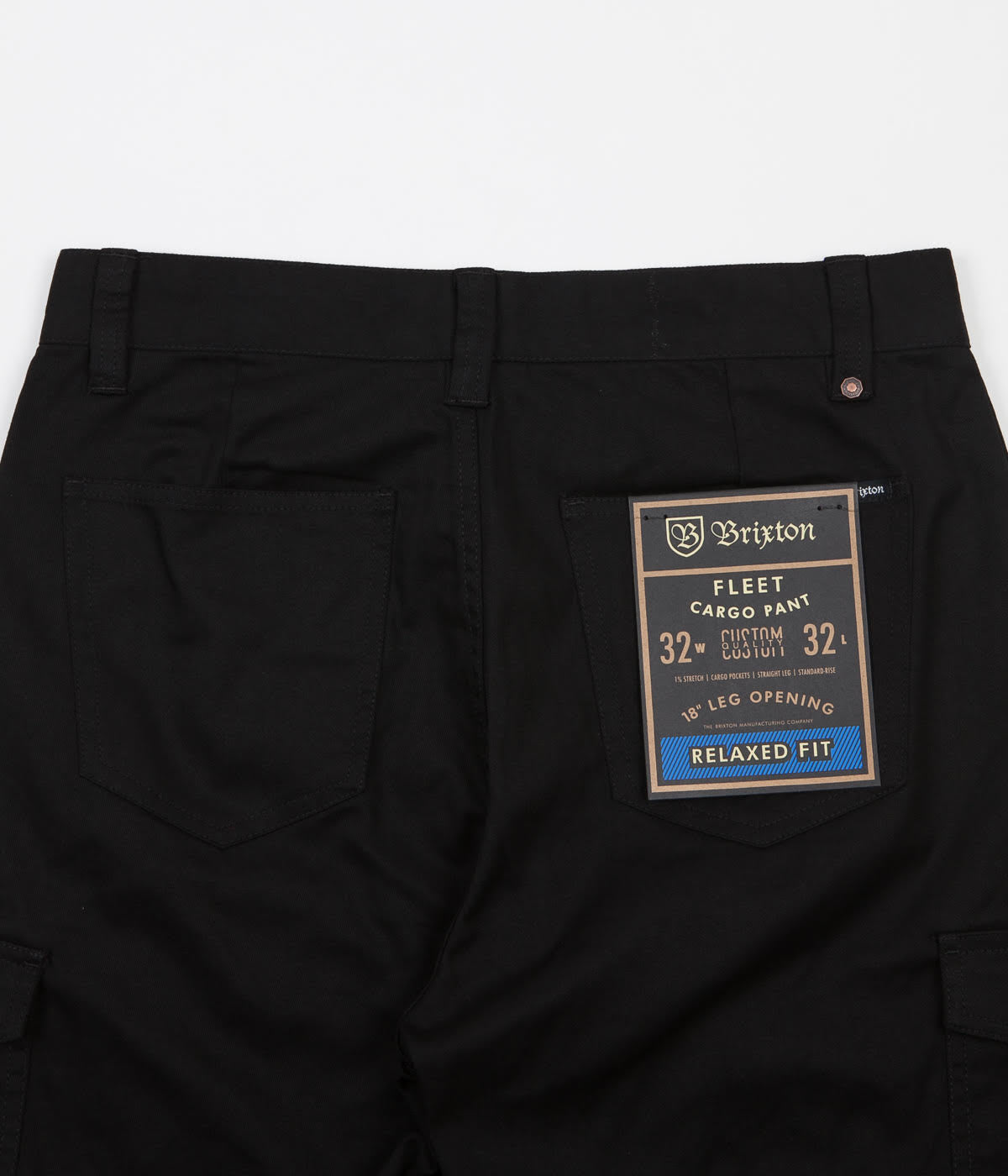 Brixton Fleet Cargo Trousers - Black