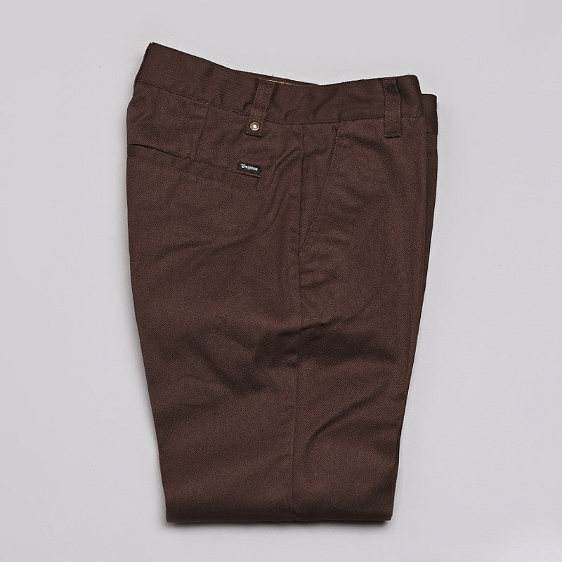 Brixton Fleet Pants Brown