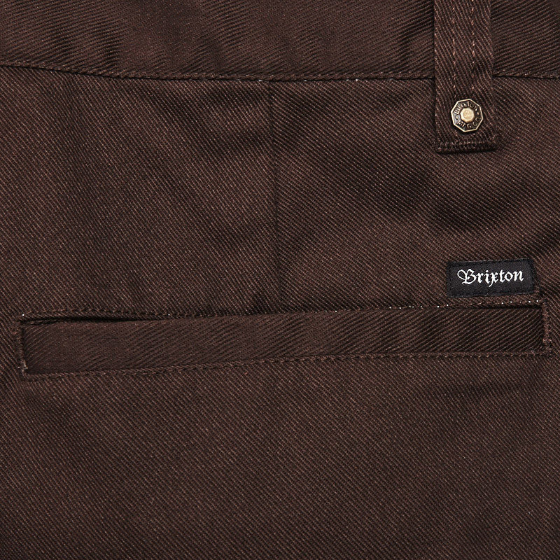 Brixton Fleet Trousers Brown