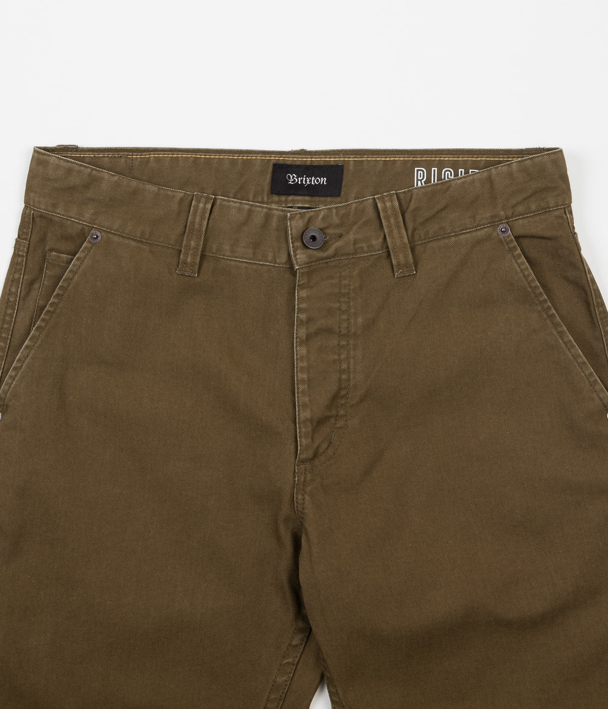 Brixton Fleet Rigid Carpenter Trousers - Olive