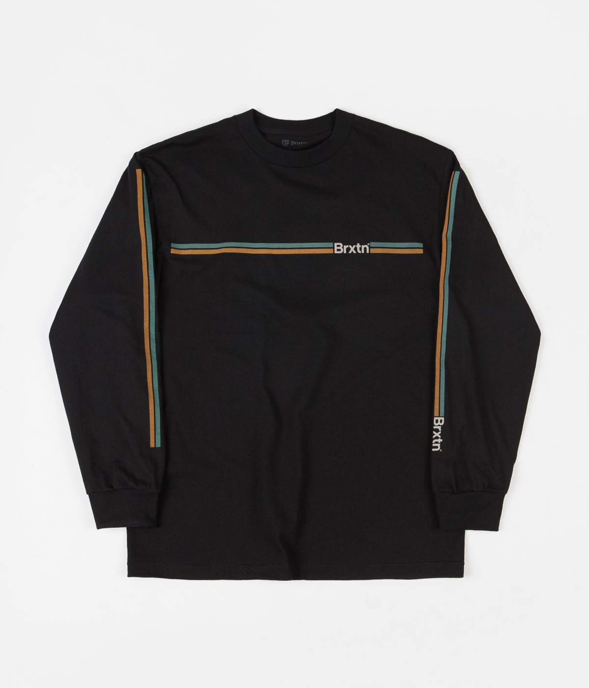 Brixton Frigate II Long Sleeve T-Shirt - Washed Black