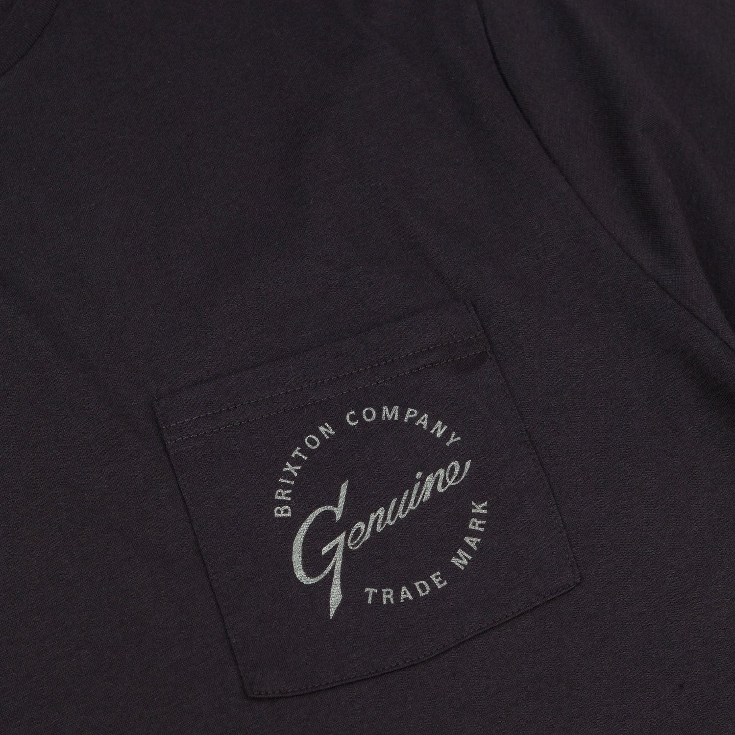 Brixton Genuine Pocket T-Shirt - Washed Black