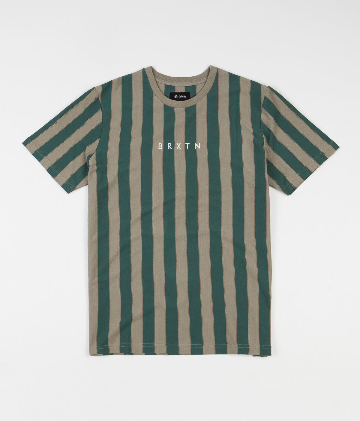 Brixton Hilt Embroidered Knit T-Shirt - Sage / Emerald
