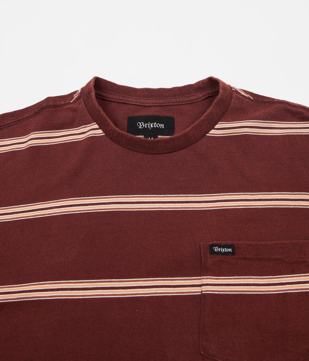 Brixton Hilt Washed Long Sleeve Pocket T-Shirt - Chestnut