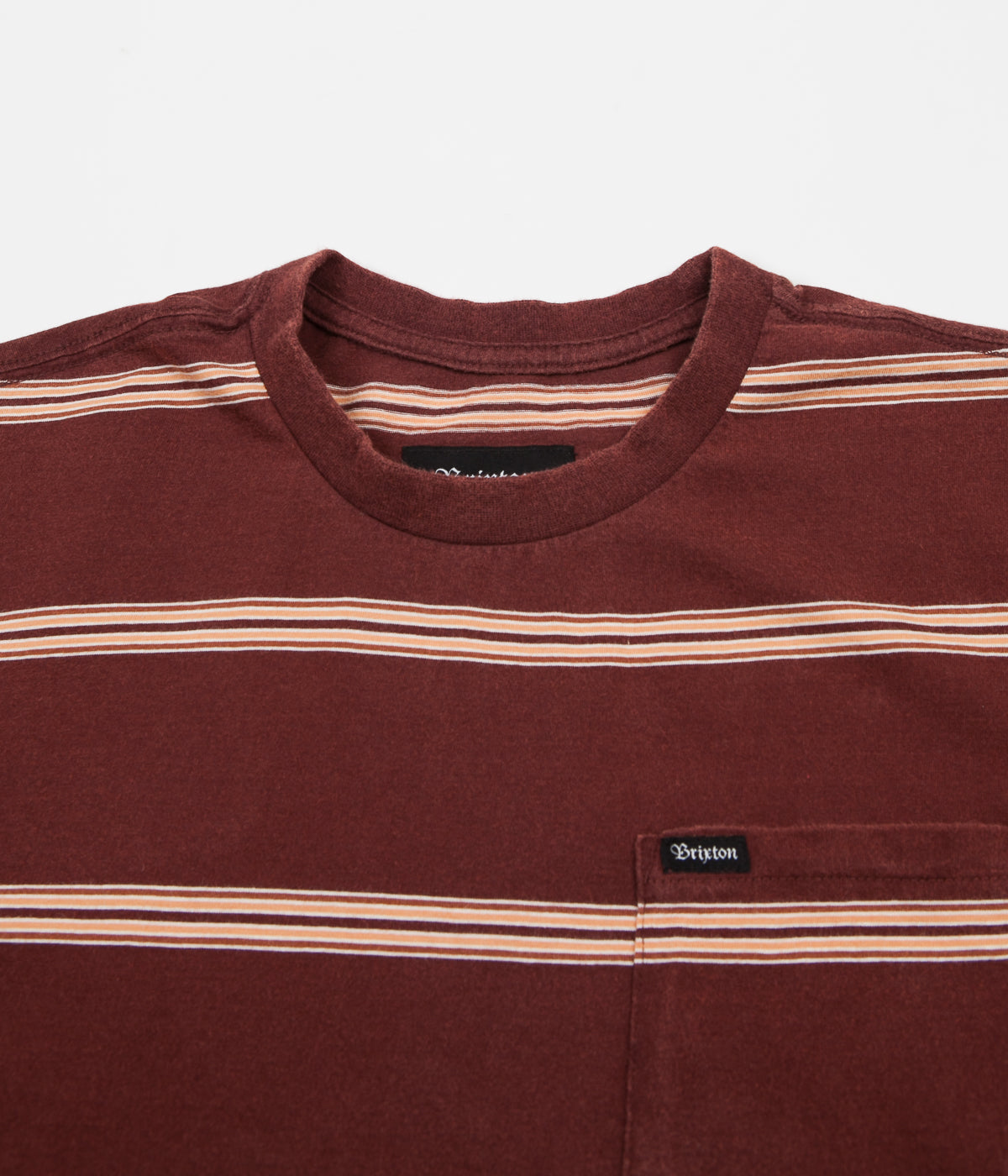 Brixton Hilt Washed Pocket T-Shirt - Chestnut