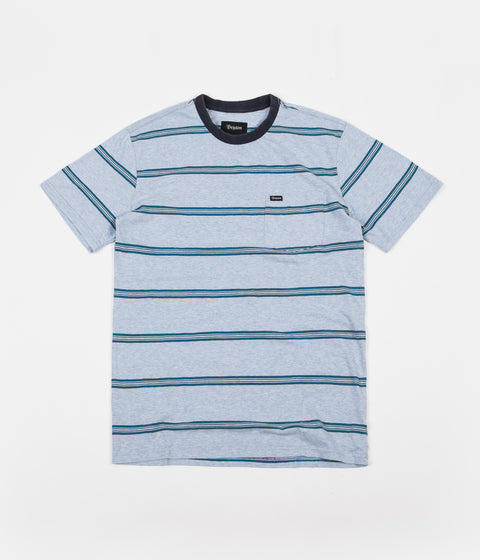 Brixton Hilt Washed Pocket T-Shirt - Heather Blue