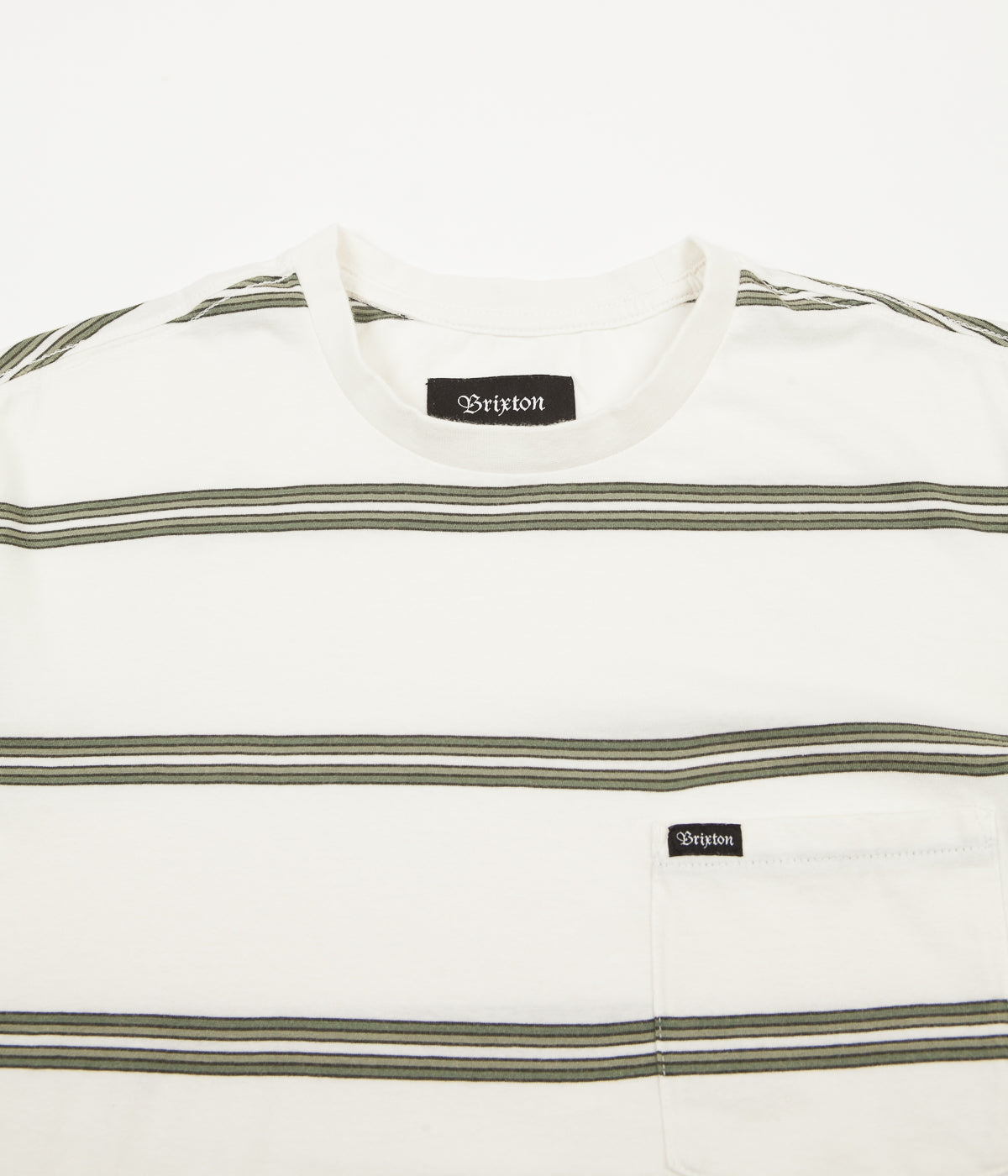 Brixton Hilt Washed Pocket T-Shirt - Off White / Pine