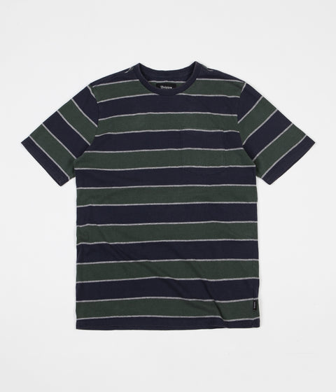 Brixton Hilt Washed Pocket T-Shirt - Pine / Navy