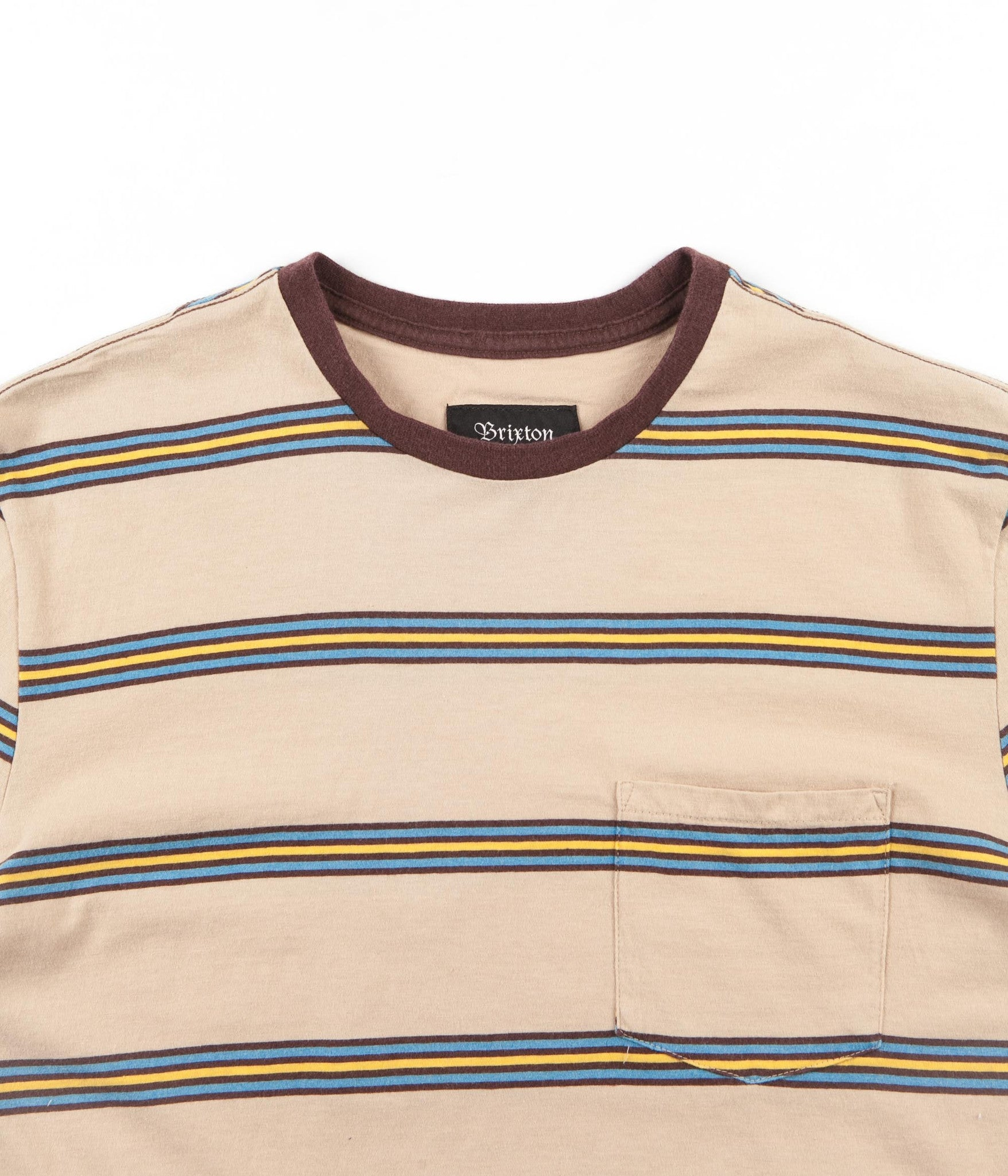 Brixton Hilt Washed Pocket T-Shirt - Sand