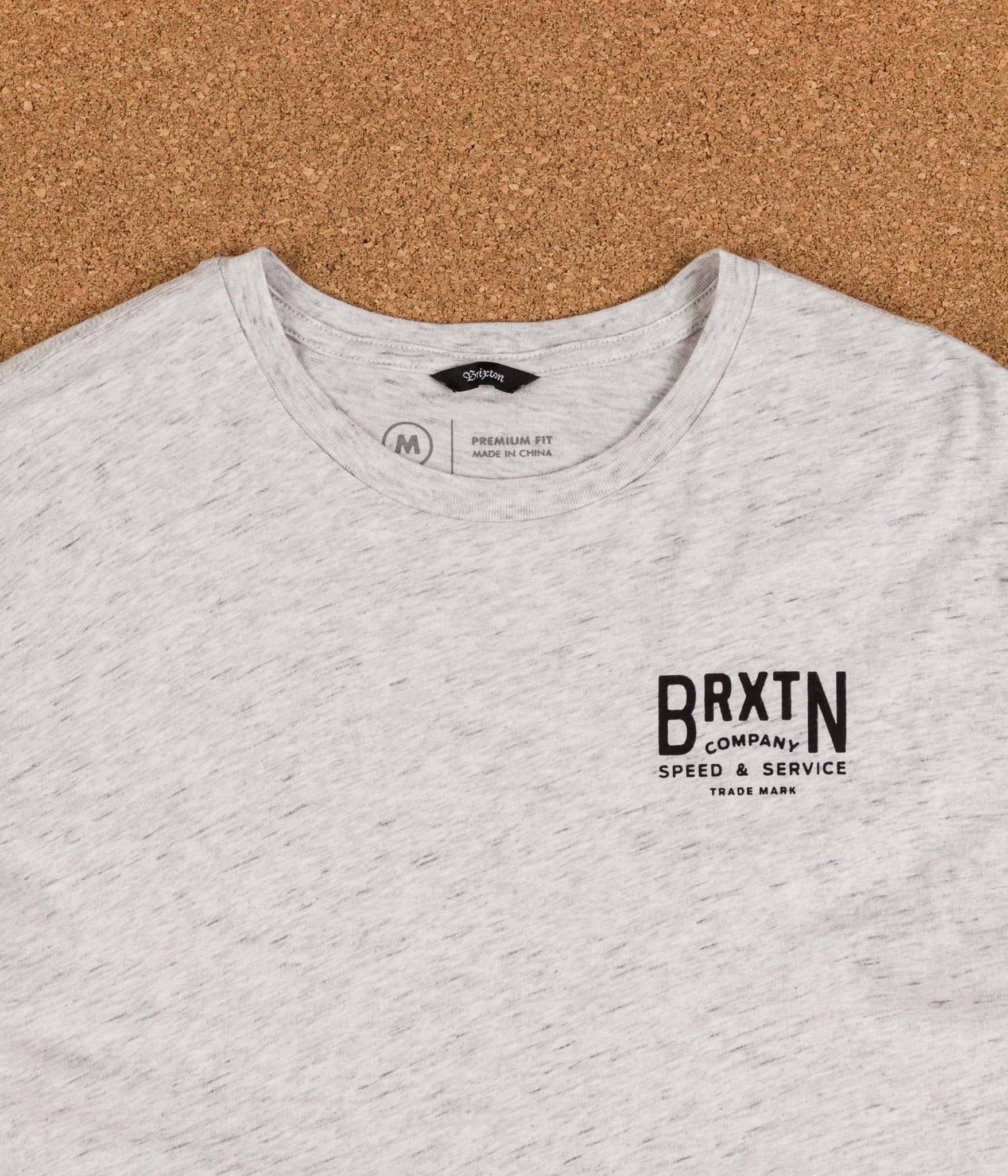 Brixton Langley Premium T-Shirt - Heather Stone