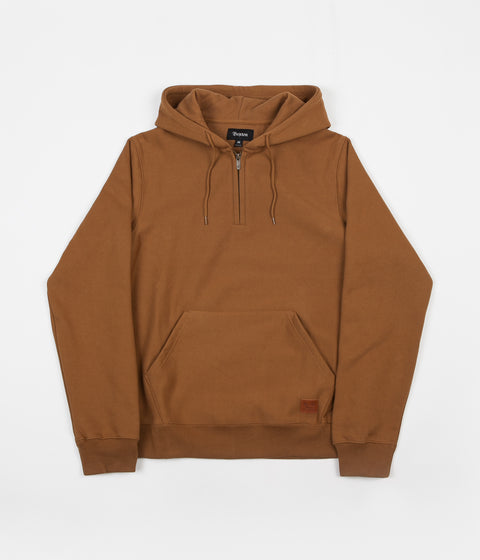 Brixton Longman Intl 1/2 Zip Hoodie - Washed Copper