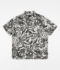Brixton Lovitz Woven Short Sleeve Shirt - Washed Black / Bone