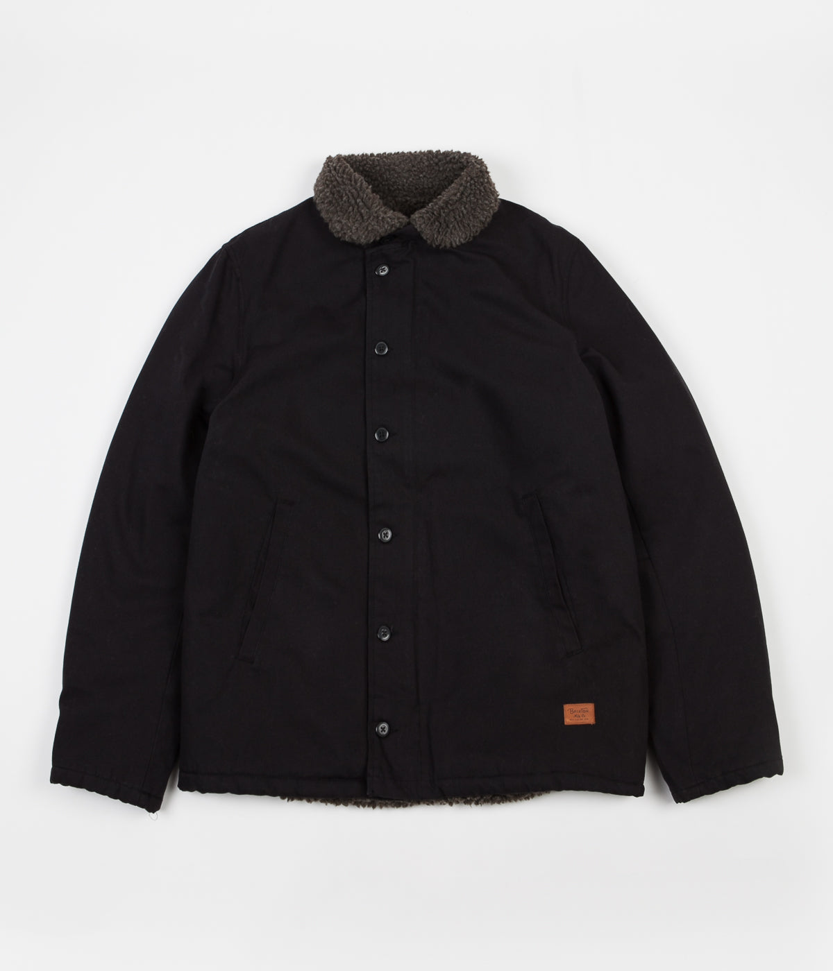 Brixton Mast Jacket - Black   Brown  ea71e3edc86