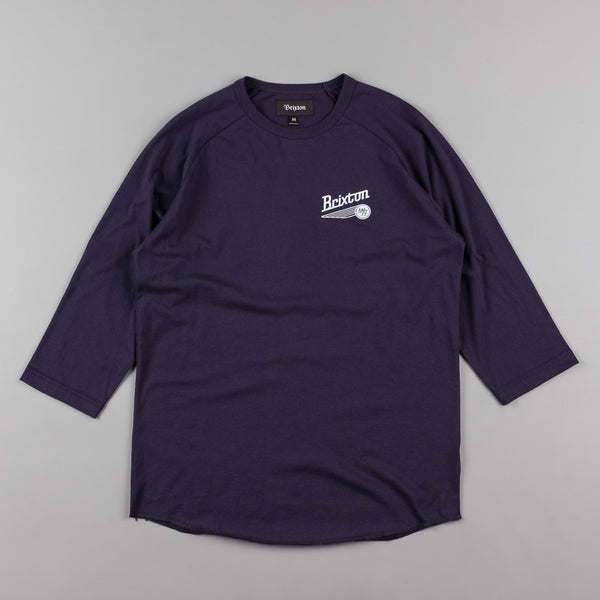 Brixton Maverick 3/4 Sleeve T-Shirt - Navy
