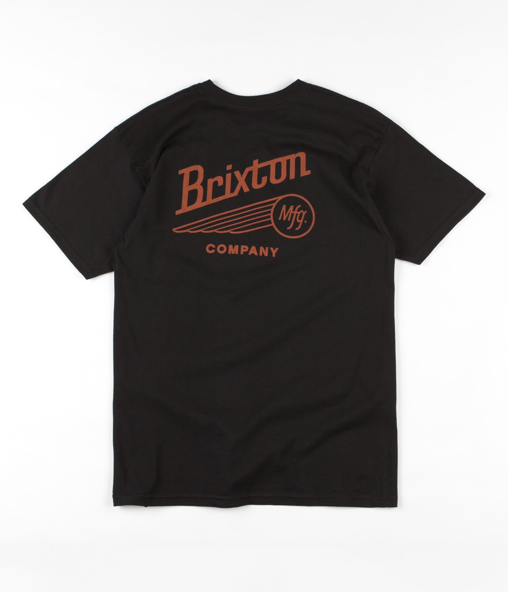 Brixton Maverick T-Shirt - Black / Rust