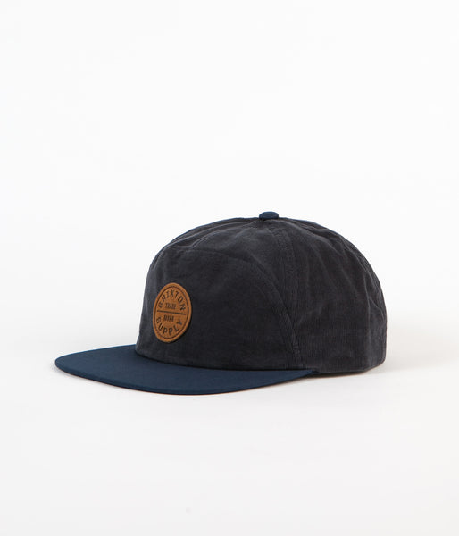 Brixton Oath 7 Panel Cap - Dark Navy