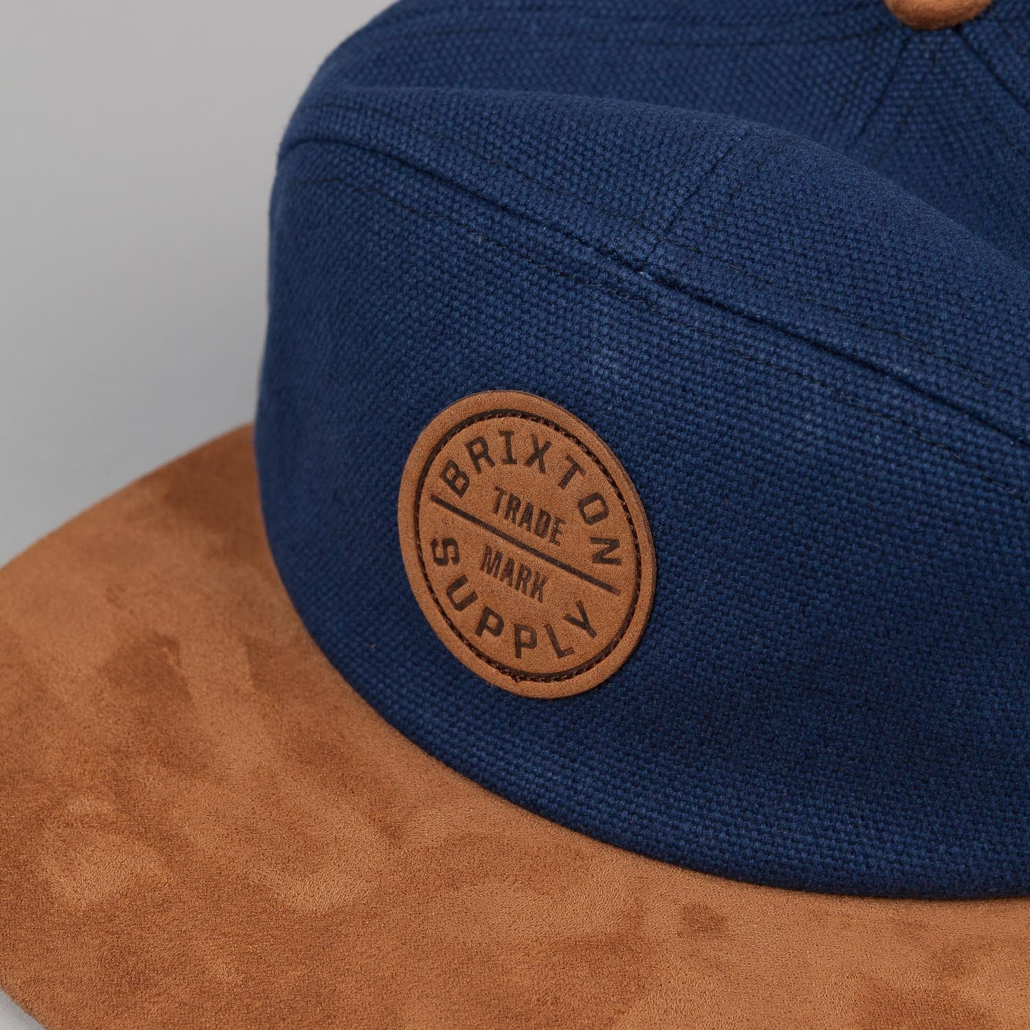 Brixton Oath 7 Panel Cap - Navy / Brown