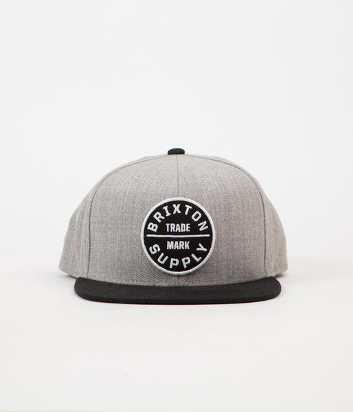 Brixton Oath III Snap Back Cap - Heather Grey / Black
