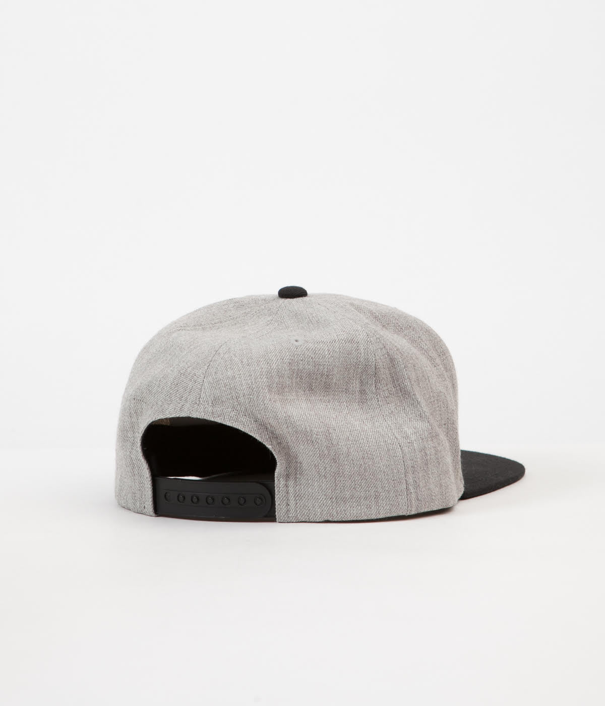 Brixton Oath III Snapback Cap - Heather Grey / Black