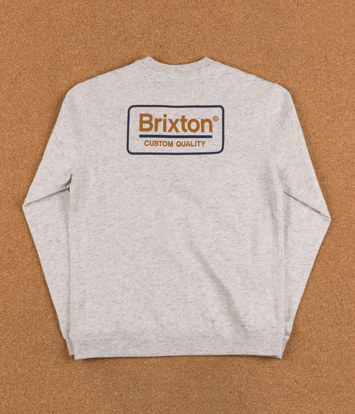 Brixton Palmer Crewneck Sweatshirt - Heather Stone