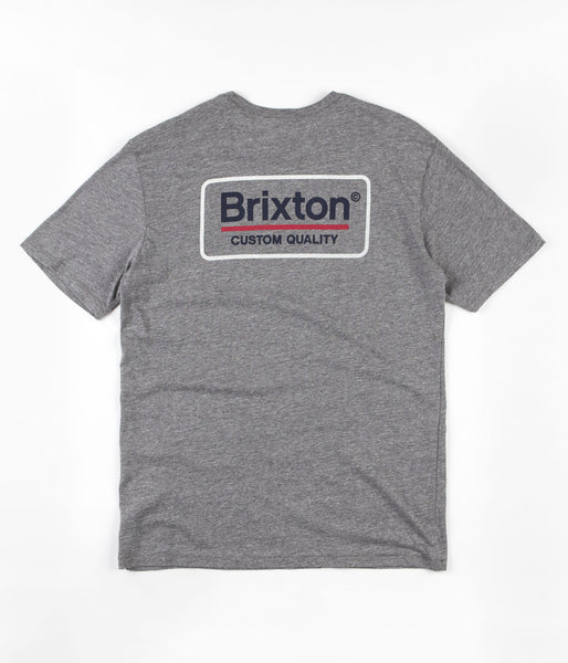 Brixton Palmer Premium T-Shirt - Heather Grey