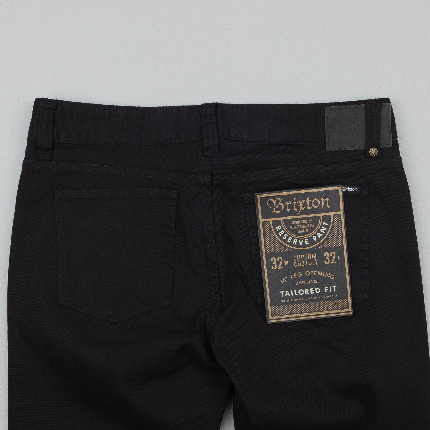 Brixton Reserve 5 Pocket Trousers - Black
