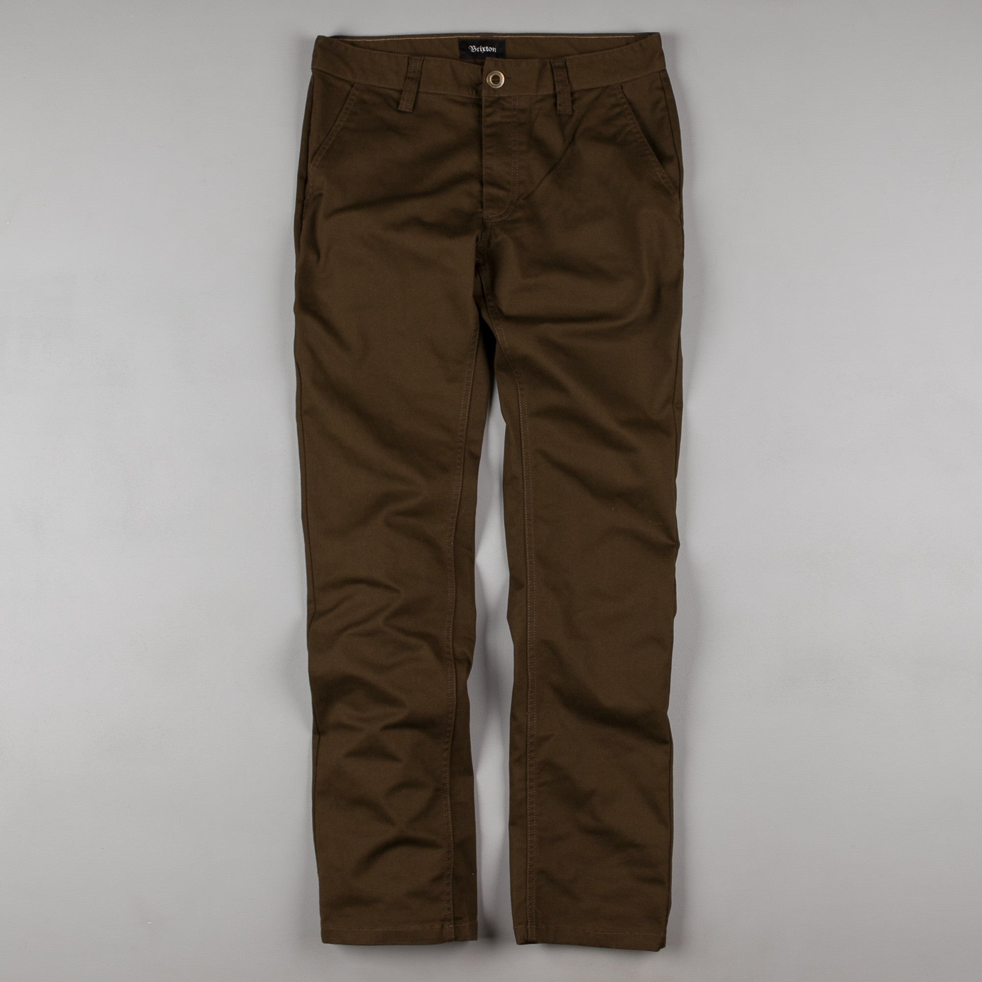 Brixton Reserve Chino Trousers - Dark Brown