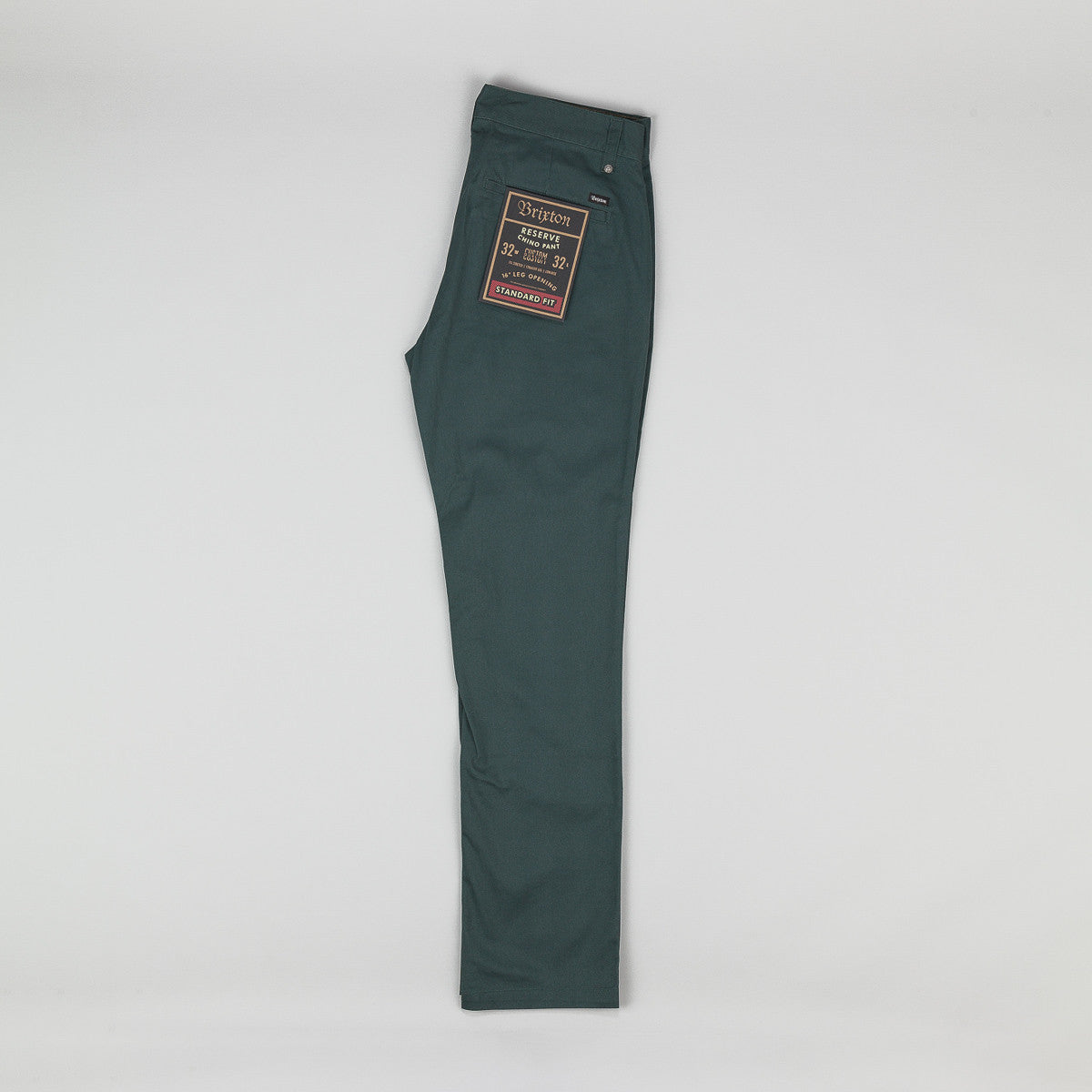 Brixton Reserve Chino Trousers - Hunter Green