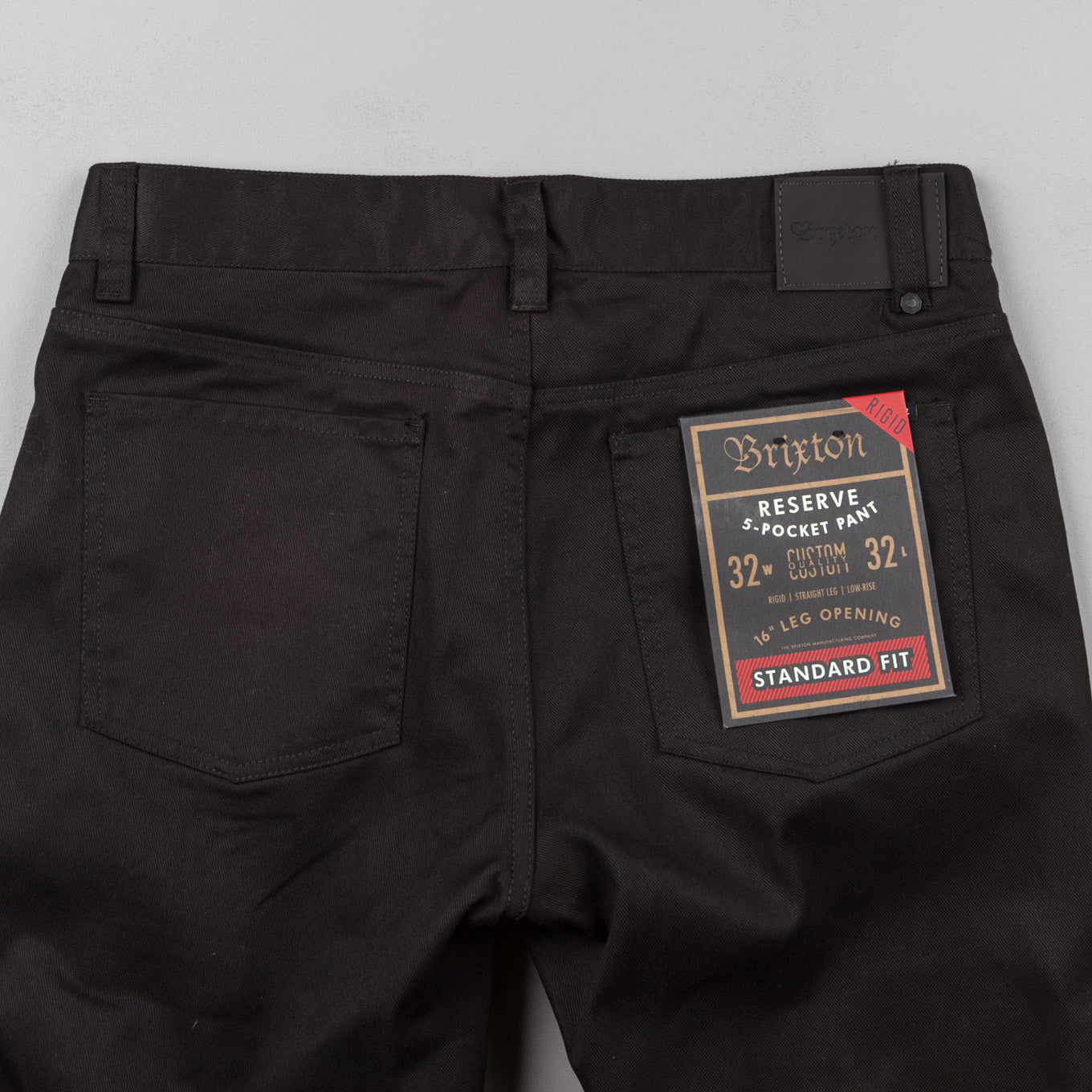 Brixton Reserve Rigid 5 Pocket Trousers - Black