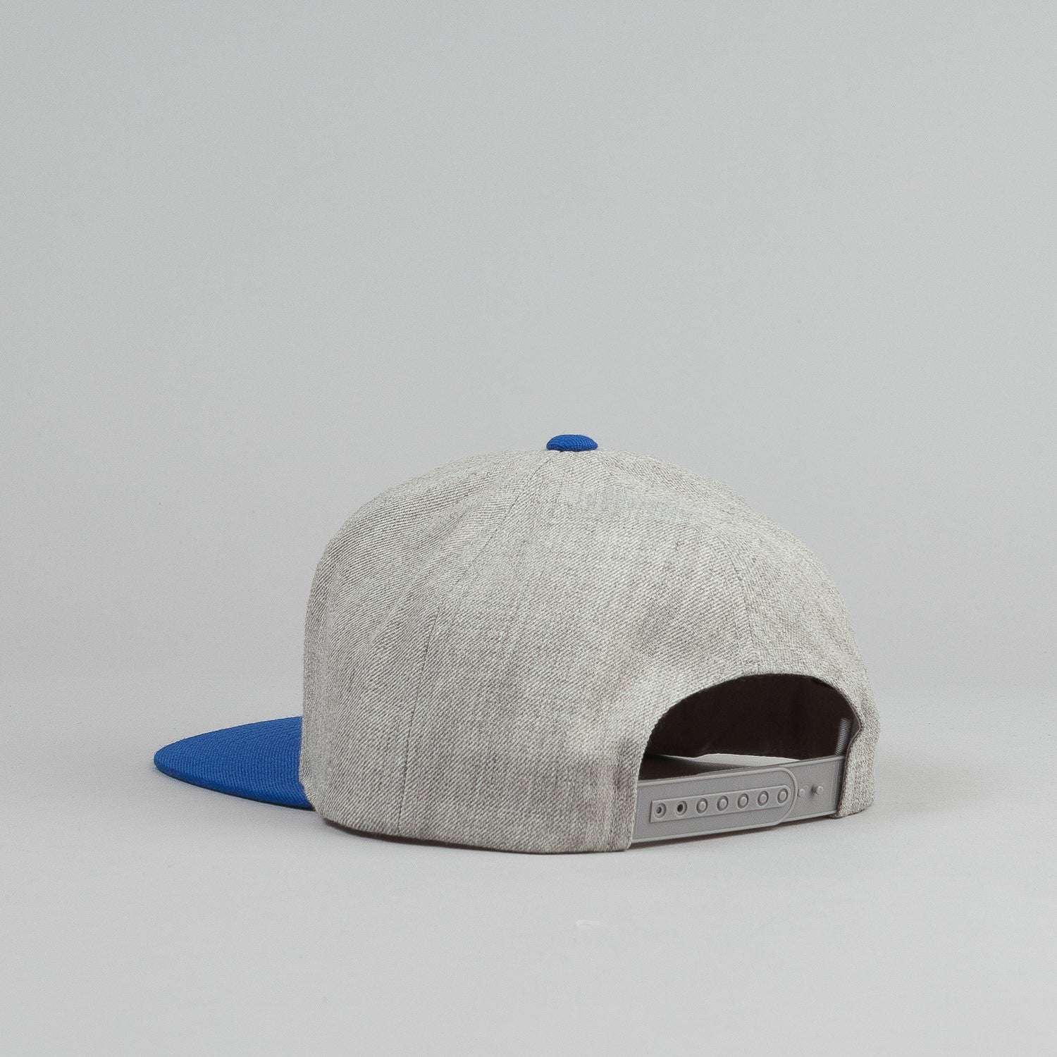 Brixton Rift Snapback Cap - Light Heather Grey / Royal