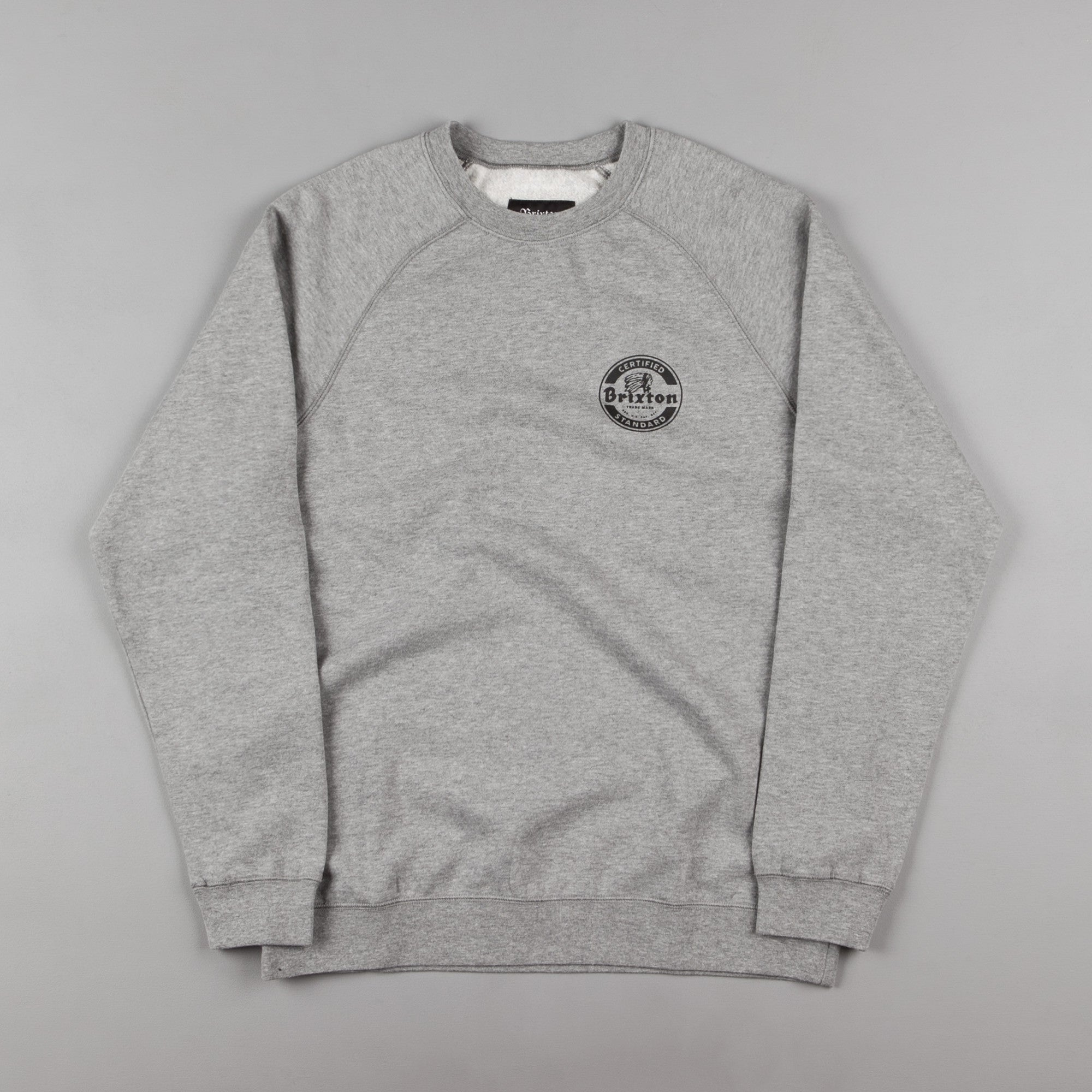 Brixton Soto Crewneck Sweatshirt - Heather Grey / Black