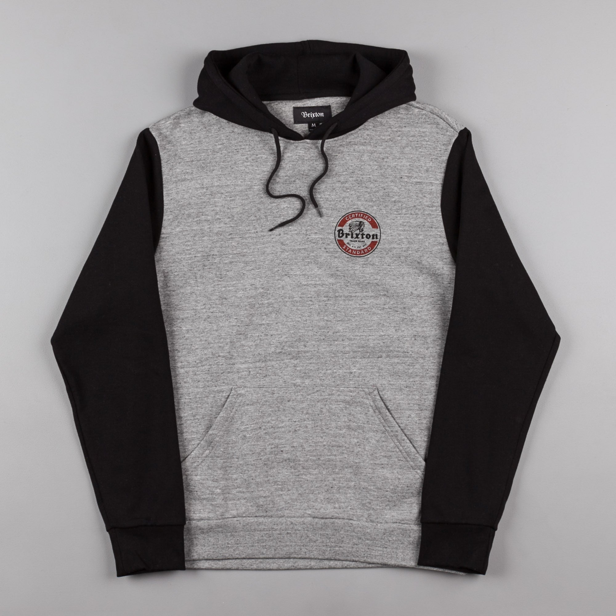 Brixton Soto Hooded Sweatshirt - Heather Grey / Black