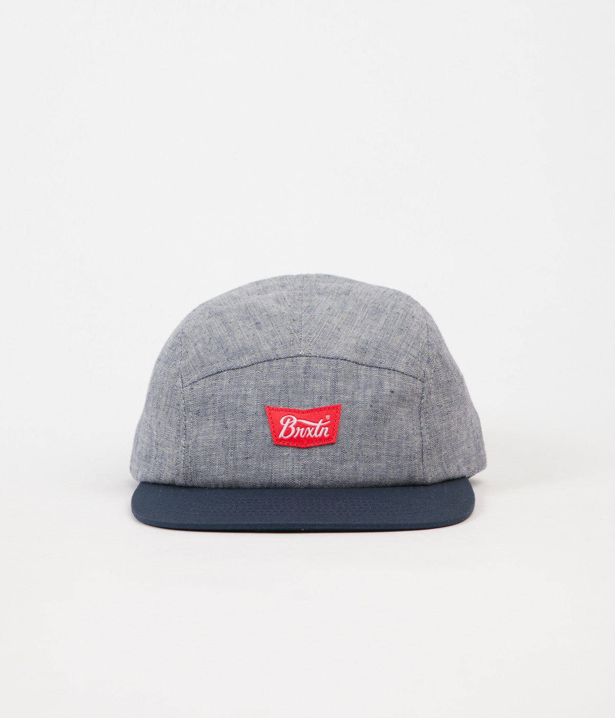 Brixton Stith 5 Panel Cap - Light Blue/ Navy