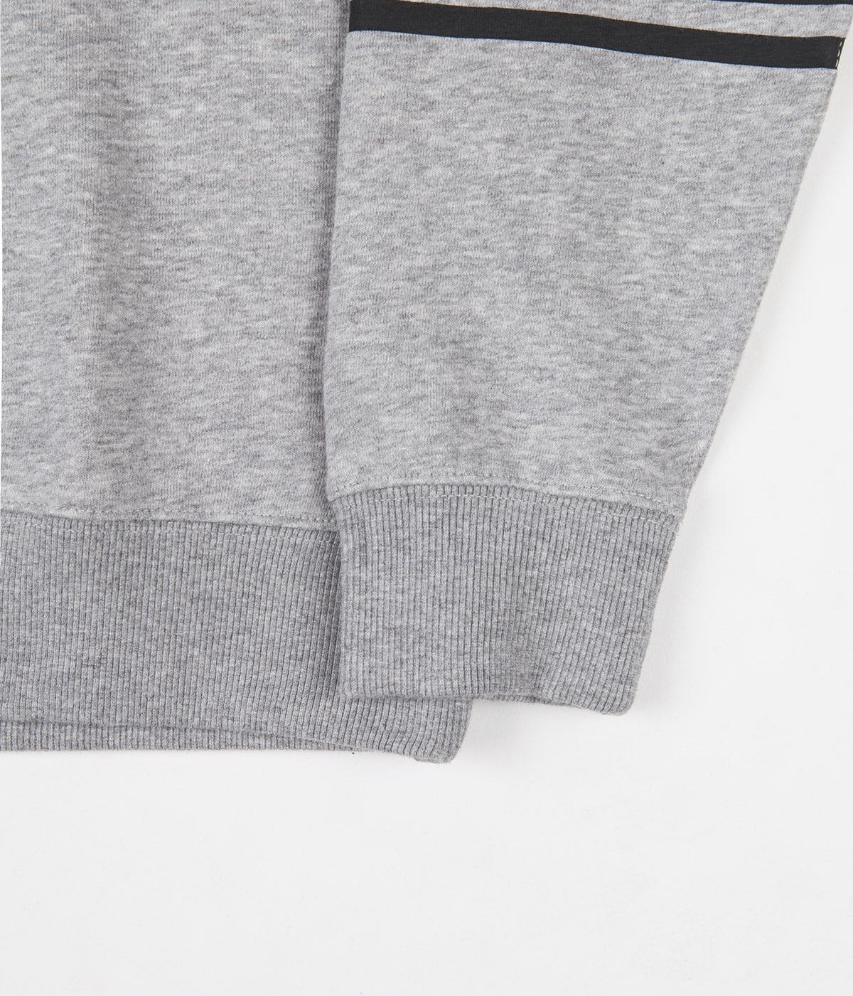 Brixton Stith Stripe International Crewneck Sweatshirt - Heather Grey