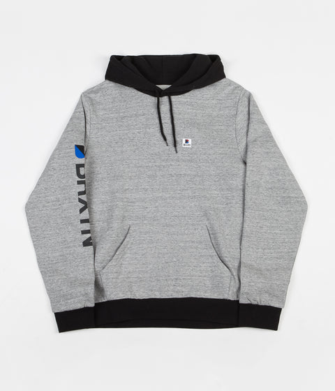 Brixton Stowell Intl Hoodie - Heather Grey / Black