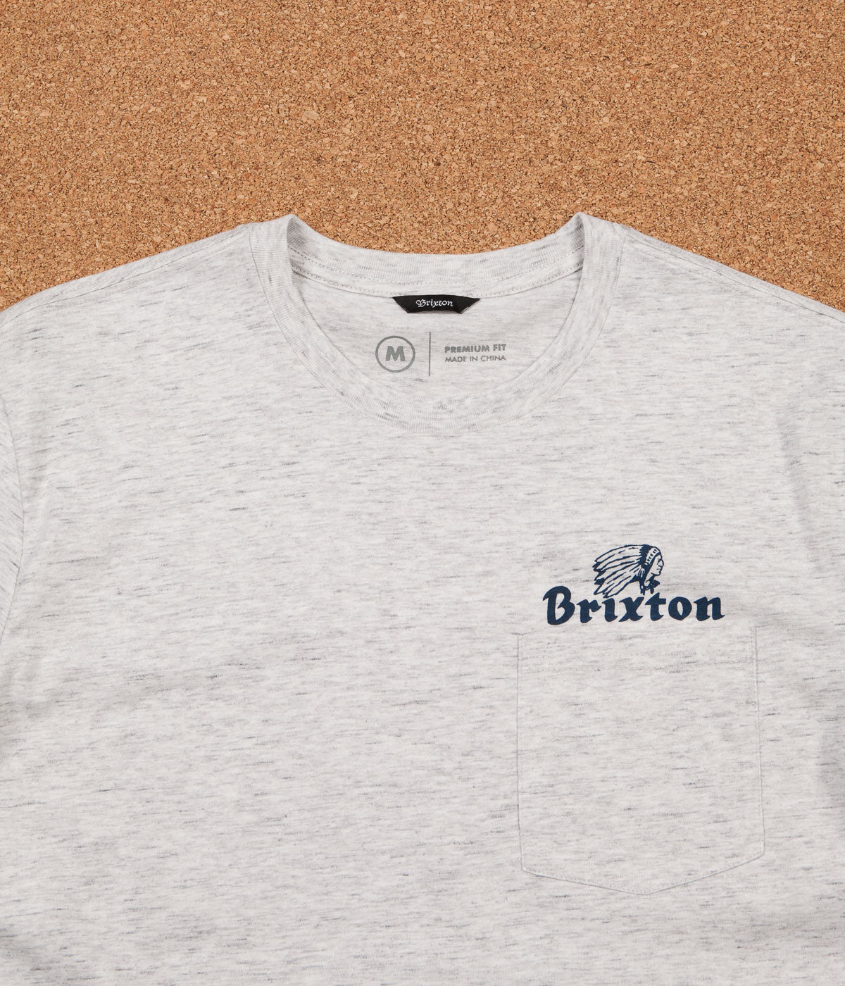 Brixton Tanka II Pocket T-Shirt - Heather Stone
