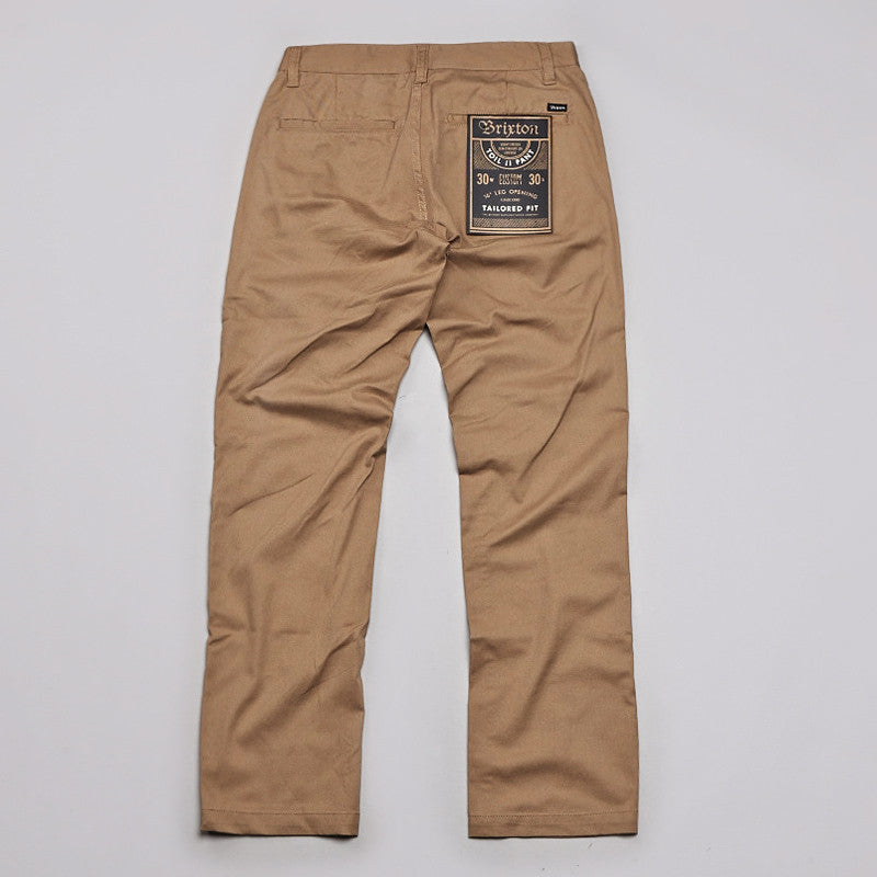 Brixton Toil 2 Trousers Khaki