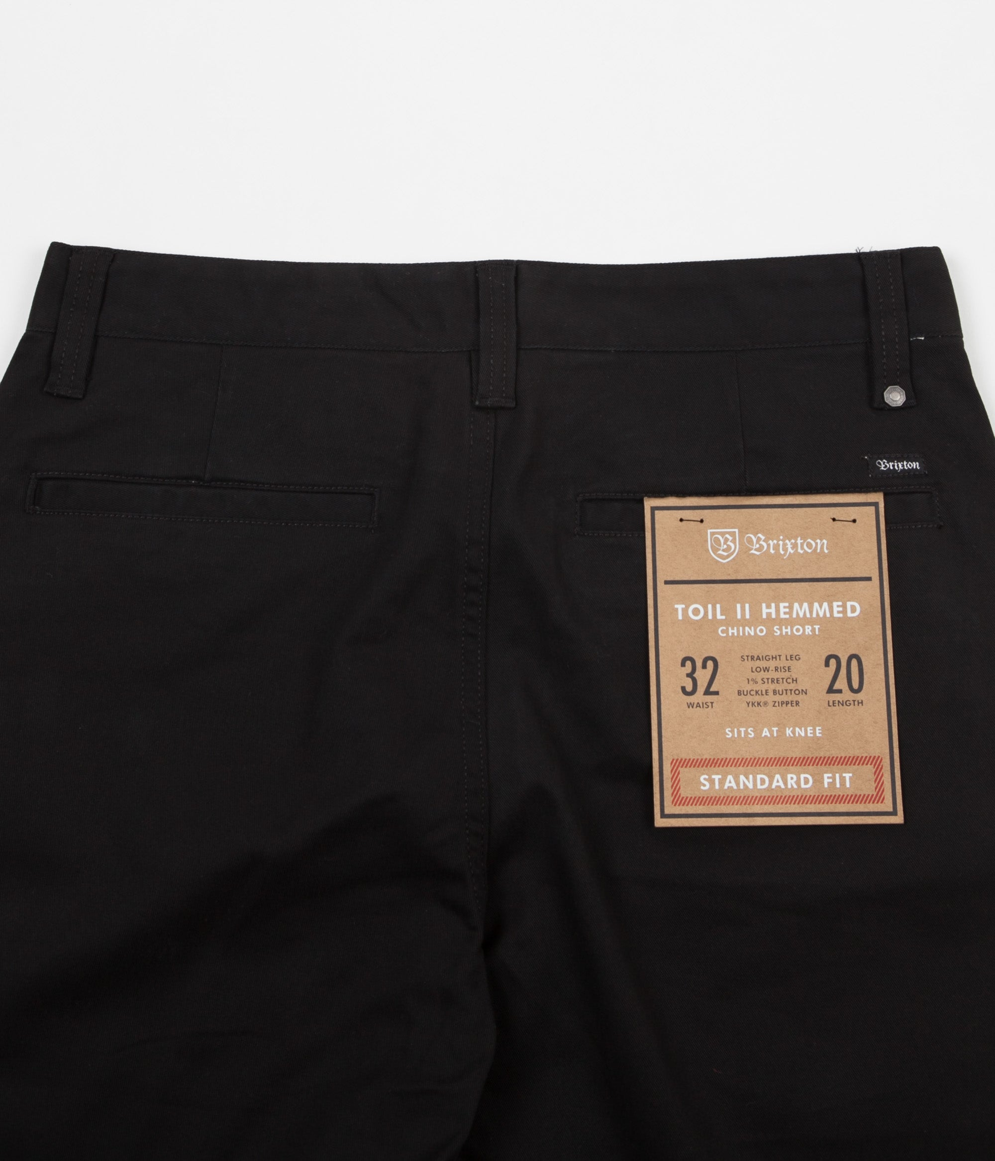Brixton Toil II Hemmed Shorts - Black