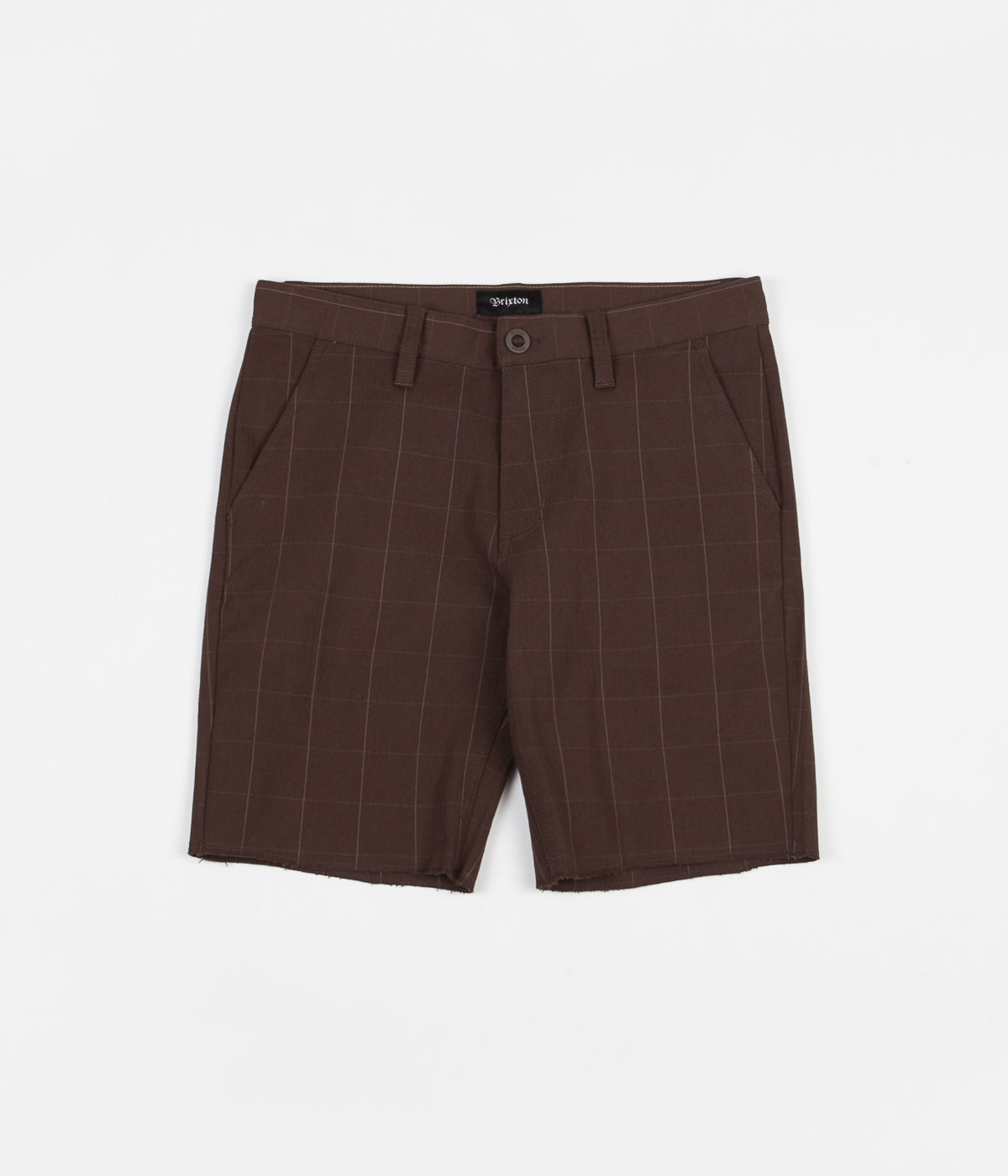 Brixton Toil II Short - Brown Plaid