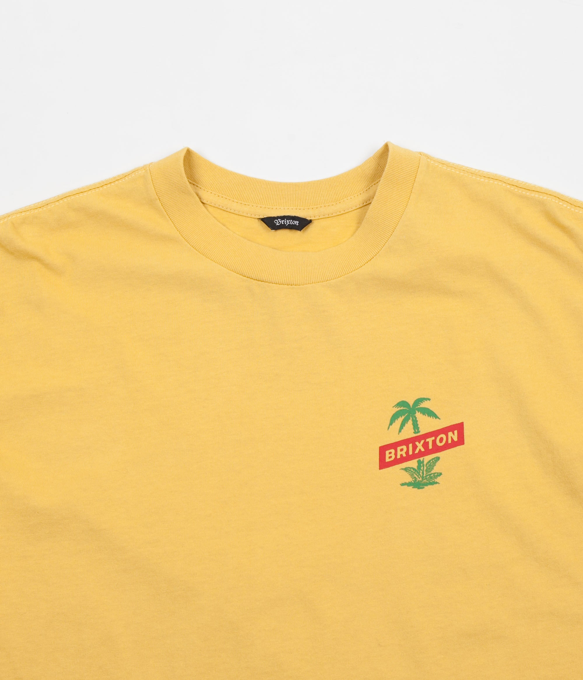Brixton Tosh Long Sleeve T-Shirt - Washed Yellow