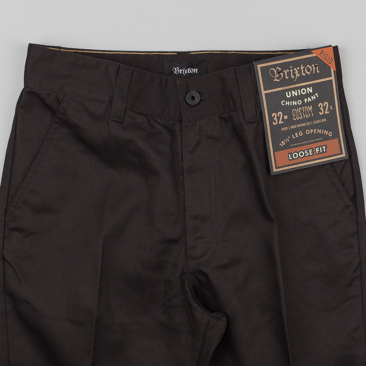Brixton Union Rigid Chino Trousers - Black