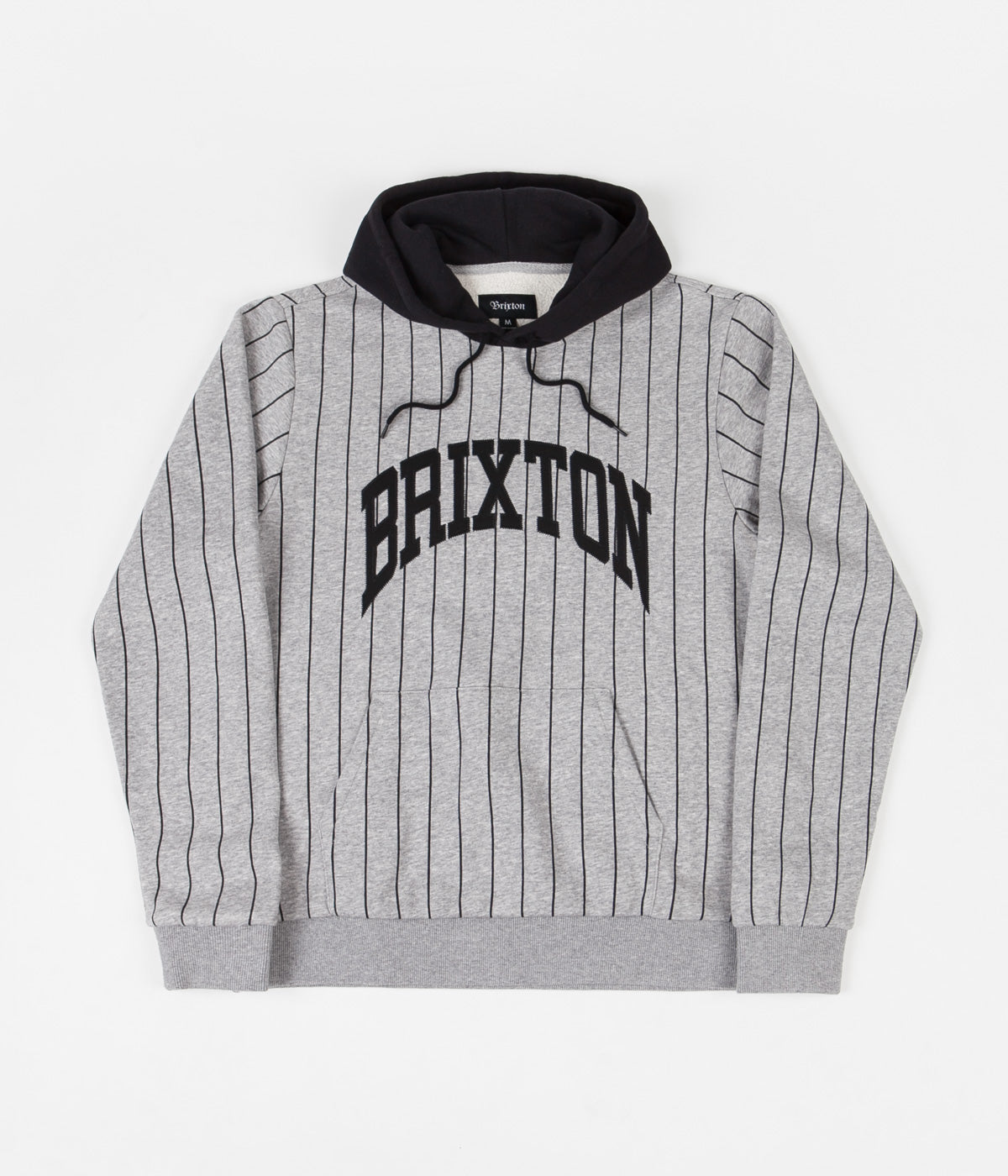 Brixton University International Hoodie - Heather Grey