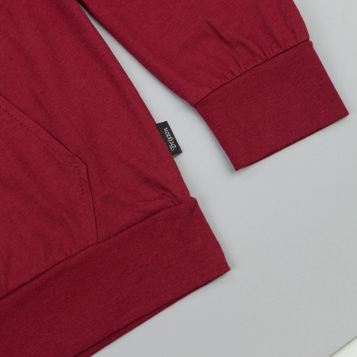 Brixton Voyager Long Sleeve Knit T-Shirt - Burgundy