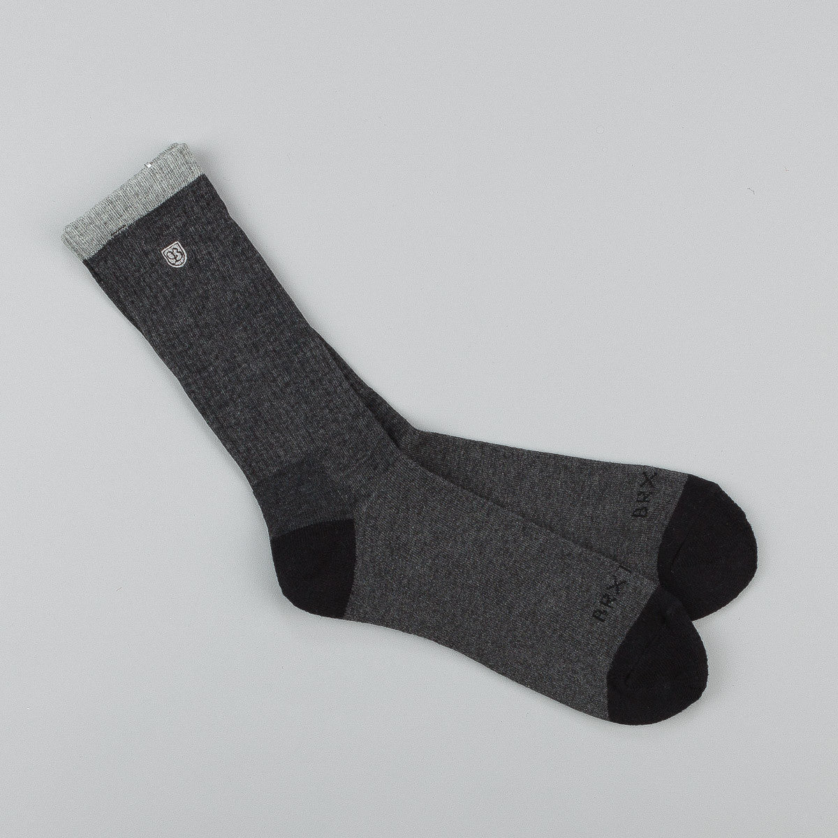 Brixton Warren Socks - Black / Charcoal