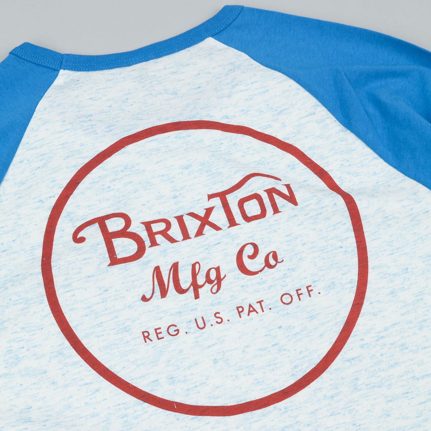 Brixton Wheeler 3/4 Sleeve Raglan T-Shirt - Washed Royal