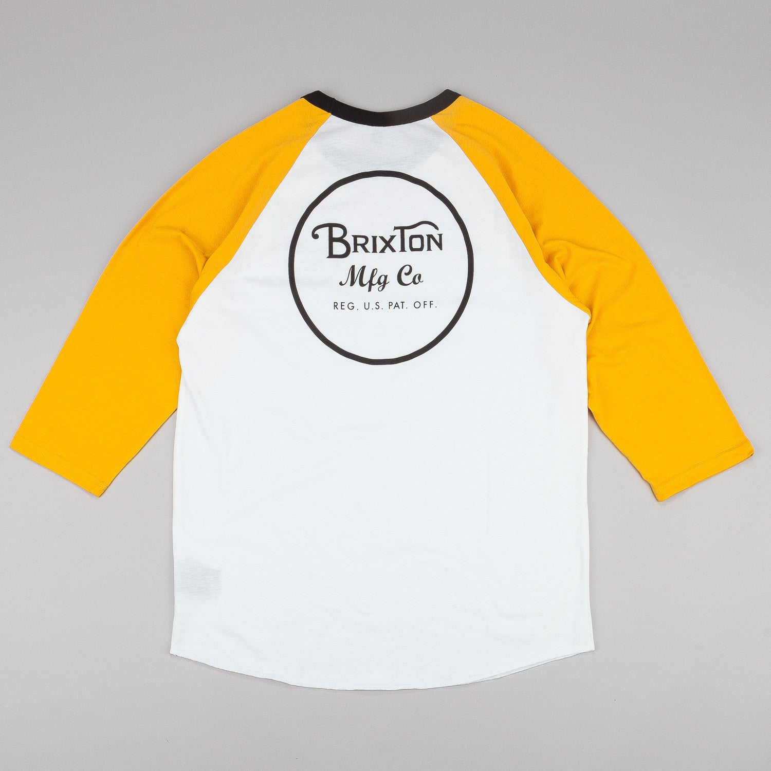 Brixton Wheeler 3/4 Sleeve Raglan T-Shirt - White / Gold