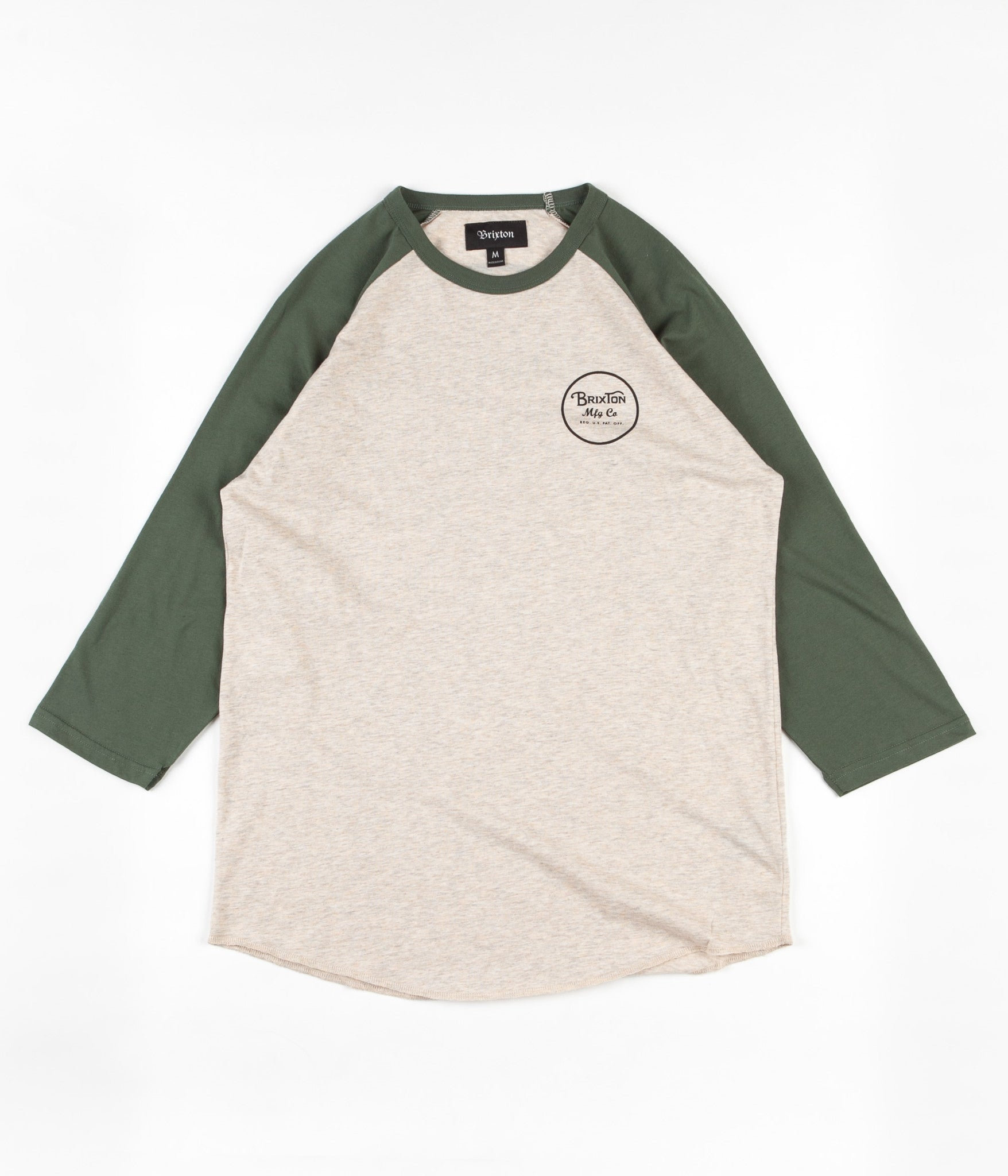 Brixton Wheeler 3/4 Sleeve T-Shirt - Oatmeal