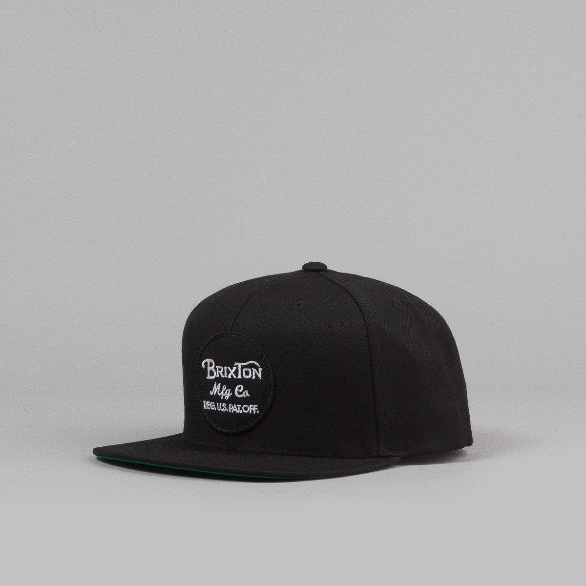 Brixton Wheeler 6-Panel Snap Back Cap - Black