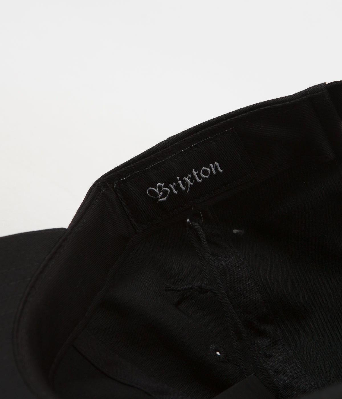 Brixton Wheeler Cap - Black / Leather Patch